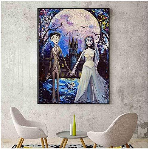 VGSD® Cartel Cadáver Novia Victor Y Emily Vincent Van Gogh Noche Estrellada...