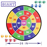 Liberry Dartboard Game, 26 Inches Large Dartboard and 12 Sticky Balls, Safe Darts Game for Kids Adults, Indoor...