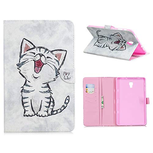 Samsung Galaxy Tab A 105 Hulle Case Ultra Slim Leder Tasche Hulle Skin fur Samsung Galaxy Tab A 2018 SM T590NT595N 105 Zoll Schutzhulle Smart Case Cover mit Standfunktion Kitty