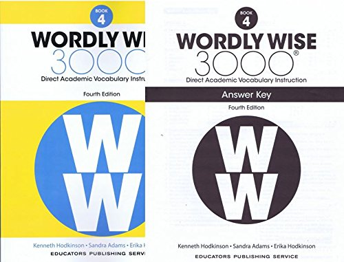 Wordly Wise 3000 Fourth Edition Student Edition + Answer Key Set Grade 4