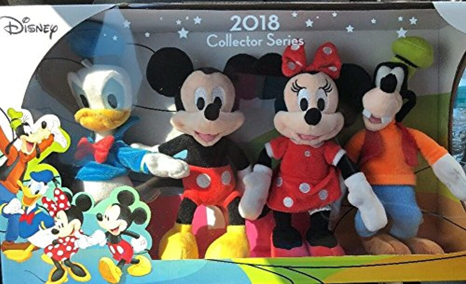 Disney 2018 Collector Series Character Stuffed Animals Mickey Minnie Donald and Goofy 9 inch stuffed
