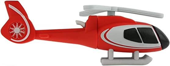 DIGIBLUSKY Novelty Helicopter Shape Design USB Flash Drives USB 2.0 Flash Drive Cute Cartoon Memory Stick Thumb Drive Data Storage Pendrive Jump Drives (32GB)