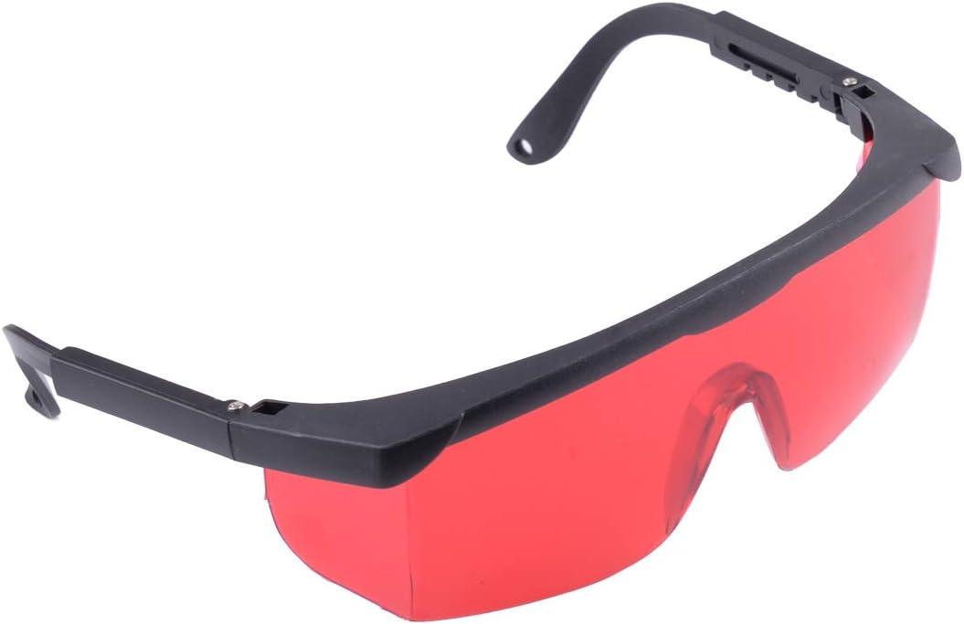 Eastar - Gafas de seguridad con láser y gamuza de limpieza, color verde 532 nm azul 445 nm violeta 405 nm