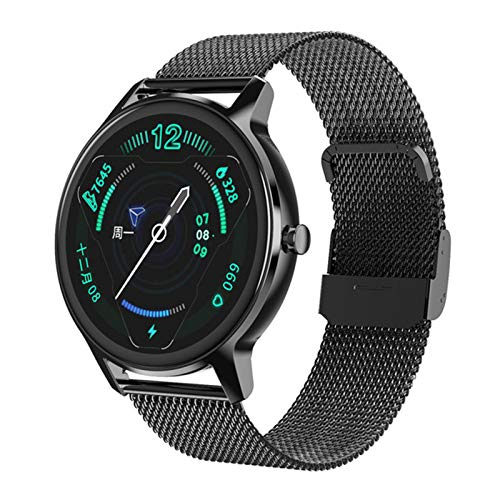 XYZK DT56 Smart Watch, Rastreador De Sueño para Hombre Smartwatch Fitness Band Smart Watch, Mujeres, Monitor De Presión Arterial,F