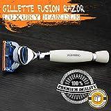 Hochwertiger Elfenbein-Farbharz-Griff, hergestellt aus Fusion-Patronen-Rasiermesser (austauschbar) -...