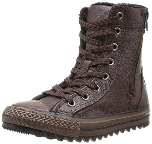 Converse Unisex-Kinder Chuck Taylor All Star Junior Hill Crest X-Hi Sneaker, Braun (9 Marron), 28 EU