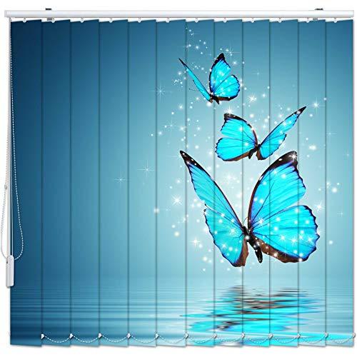 Lamellen-Vorhang mit Motiv Maßanfertigung Komplettset bis 500 cm Stoff Blickdicht Decken- Wand-Montage Sicht-Schutz Vertikal-Jalousie Raumteiler Digitaldruck 4005 Breite 50-100 Höhe 50-100 cm