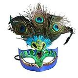Máscara de Pavo Real máscara de Navidad máscara Maquillaj
