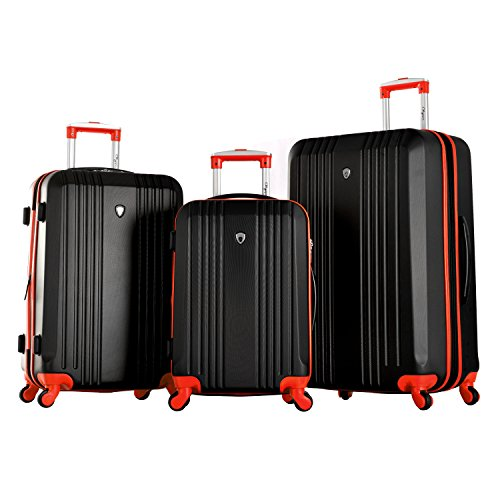 Olympia Apache 3pc Hardcase Spinner Set, Black/Red, One Size