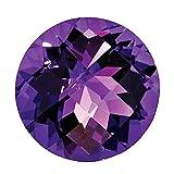 Mughal Gems & Jewellery 天然アメジスト AAA品質 非常に良いカット ラウンド型 ルースジェムストーン リング/ネックレス/イヤリング/ジュエリー作りに パープル