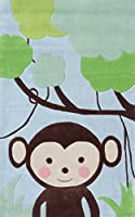 The Rug Market Kids Rugs Jungle Mania, Blue/Brwn/Grn, 2.8 x 4.8 [並行輸入品]