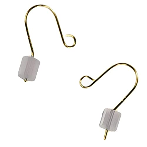 Earwire 14k Solid Yellow Gold Fishhook Earring Parts w  Stoppers .016