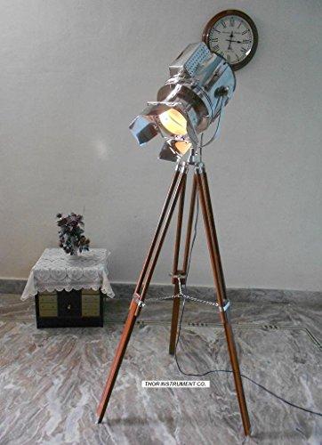 funda náutico linterna de foco lámpara de pie trípode de decoración para el hogar