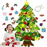 Fieltro Árbol de Navidad, Bageek Árbol de Navidad DIY con 50 Luces LED 28 Unids Adornos Navidad Decoración Colgante para Niños Regalo de Navidad Niños arbol de Navidad Cafe Hotel casa decoración
