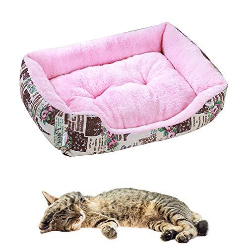 HOSui Casa para Perros Casa para Gatos Cama Creativa para Mascotas De Color Caramelo Sofá para Mascotas CáLido Y CóModo Casa para Mascotas Lavable A La Moda Small,French Rose Pink