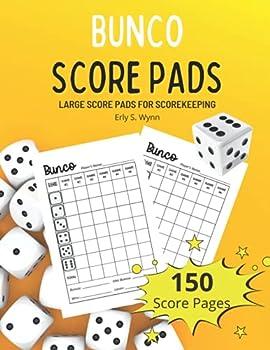 Bunco Score Pads  150 Score Sheets for Scorekeeping Large Print 8.5 x 11 inches   Bunco Score Sheets Book
