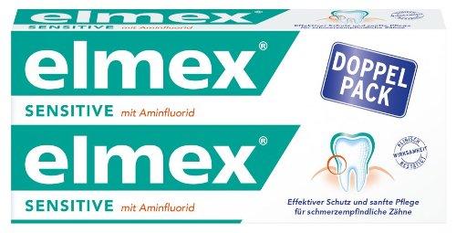 Elmex Sensitive Zahnpasta Doppelpack, 2er Doppelpack (4 x 75 ml)