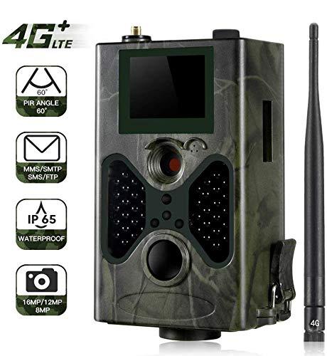SUNTEKCAM 4G Wildkamera Mit Bewegungsmelder Nachtsicht HandyüBertragung 16MP 1080P Full HD Jagdkamera 120° Weitwinkel 40 IR-LEDs Überwachungskamera Mit IP65 Wasserdicht Kamera