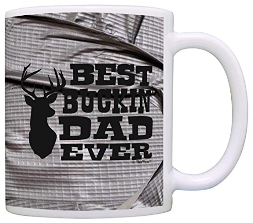 Father's Day Gift Best Buckin' Dad Ever Deer Hunting Gift Coffee Mug Tea Cup Simulated Duct Tape