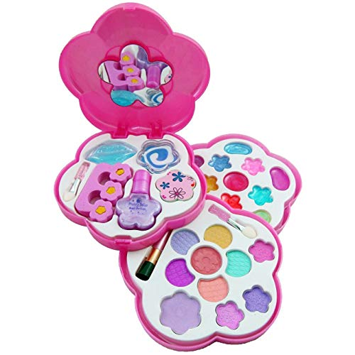 Petite Girls Play Cosmetics Set - Fashion Makeup Kit for Kids