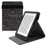 kwmobile Carcasa Compatible con Kobo Clara HD - Funda para e-Book de Cuero sintético - física Blanco/Negro