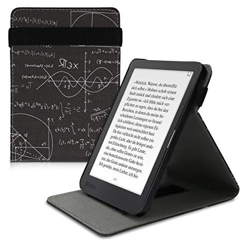 kwmobile Funda Compatible con Kobo Clara HD - Carcasa para e-Book de Cuero sintético - física Blanco/Negro