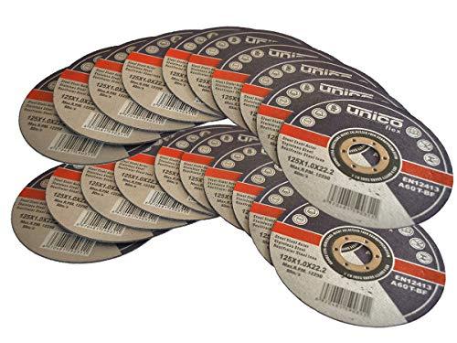 20 Stück Trennscheibe Ø 125mm x 1.0mm für Winkelschleifer Stahl Edelstahl Flexscheibe Inox Metall