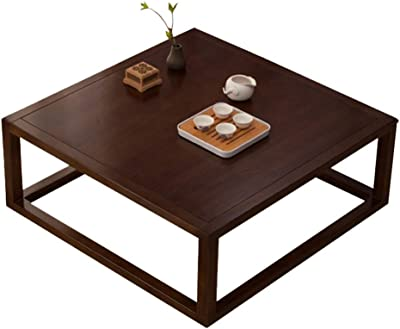 Black Coffee Table Carpet Tea Table Balcony Coffee Table Laptop Table Bay Window Table Study Low Table Side Table Corner Table (Color : Brown, Size : 50 * 50 * 25cm)