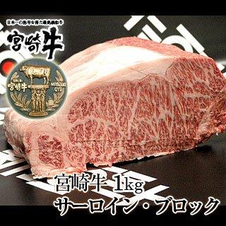 宮崎牛 サーロイン ブロック 1kg
