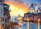 DFGJ Rompecabezas Venecia al Atardecer 1500 Piezas (87 * 57 cm)