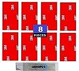 CANOPUS 3M Nastro Biadesivo Extra Forte Tamponi Biadesivi 3M 8PZ (25mm x 50mm) Nastro di montaggio, Nastro di Fissaggio di Targhe per Auto, Decorazioni Per la Casa, 3M Biadesivo per Auto