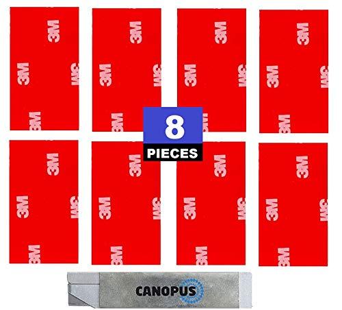 CANOPUS 3M 4229P, 8 PZ, Extra Fuerte Cintas adhesivas de doble cara (25mm x 50mm), almohadilla adhesivas de doble cara,...