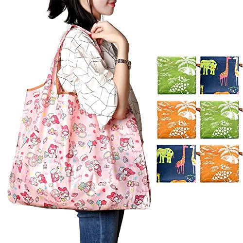 XHUENG Útil Bolsas de la Compra ecológico Impreso Plegables Plegables Bolsos Bolso de los Bolsos, Bolsas de Viaje de los Alimentos (Color : Q)