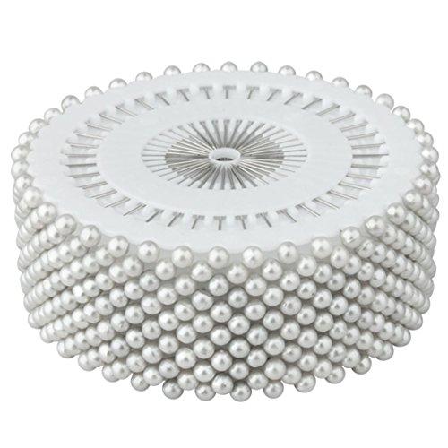 480x Ronda sintética Pearl alfileres con para costura Costura Craft boda decoración blanco por accesorios ático ®