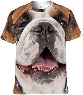 JKMEOO Short Sleeve T Shirt Bulldog Women