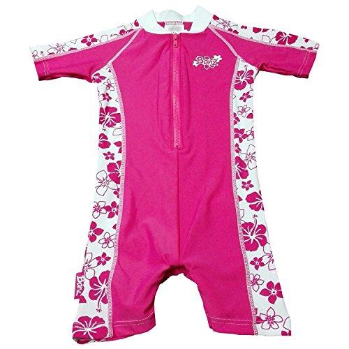 Baby Banz Baby Girls' Banz One Piece Swim Suit, Pink Floral, 6 12 Months