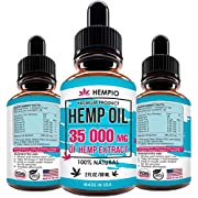 Pure Hemp Extract 35 000 MG for Pain Relief, Relaxation, Sleep and Mood Support, Natural, Organic, Vegan, Zero CBD
