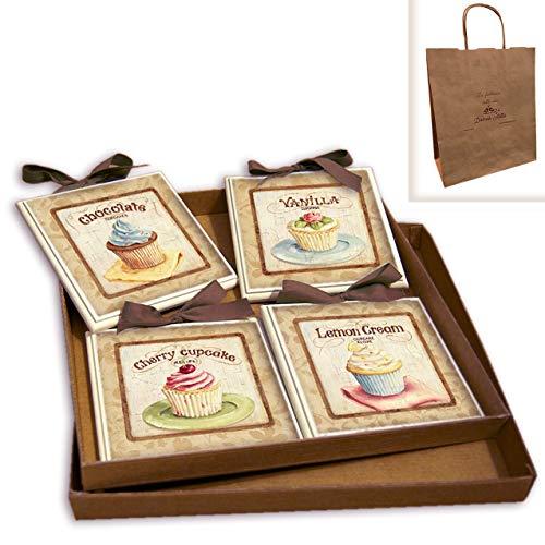 CREAZIONI ANTART Dettagli su Idea Regalo Set Quadretti Shabby Chic Country ARREDAMENTI Cucina 15x15 Art sr6