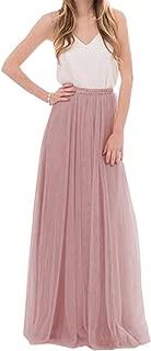 Womens Long Floor Length Tulle Skirt High Waisted Maxi Tutu Party Dress