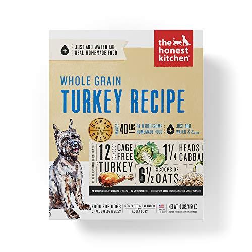 The Honest Kitchen Human Grade Dehydrated Organic Grain Turkey Dog Food 10 lb - Keen