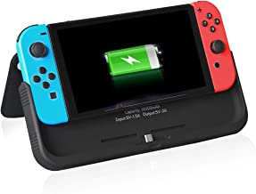 Compatible with Nintendo Switch, Portable Battery Pack Power Bank High Capacity 10000mAh Smart Charging Extended Protective hard leather CASE kit cover with USB output
