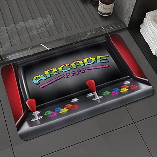 Alfombra de baño y Alfombra antideslizanteVideojuegos Arcade Machine Retro Gaming Fun Joystick Botones Vintage 80 's 90' s ElectrAlfombrilla de Ducha de Microfibra (50x80cm)