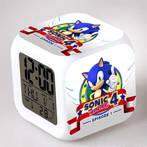 Zhuimin Sonic egels LED wekker staart klok digitale klok 7 heldere kleuren kleine wekker lamp