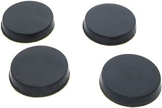 ASHATA 8 Pcs 30x20mm Rubber Feet Anti-Vibration Base Pad Stand for Speaker Guitar Amplifier w//Screws,Rubber Feet for HiFi Speaker,Amplifier,Car Subwoofer