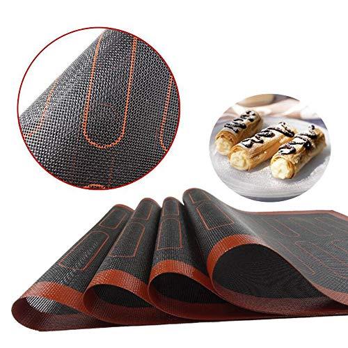 Silicone Knipsel bakken mat, Rolling Dough Mat, Non-Stick, weerstand op hoge temperatuur, Gebak Mat voor Macaron, Cookie, broodje, Brioche