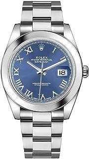 Datejust 41 Blue Roman Numeral Dial Men's Watch 126300