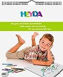 Heyda 2070486 Bastel-/Kreativkalender Kind (13 Monatsblätter, 297 x 350 mm, Kalendarium immerwährend, Wire-O-Bindung mit Aufhänger)