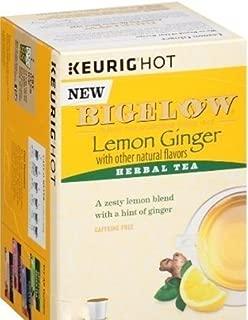 Bigelow Lemon Ginger Herbal Tea K-Cup Pods (18 k-cups)