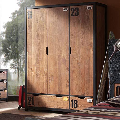 Kast 150 cm van hout, industriële brons