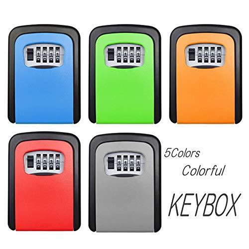 鍵の金庫 シェアキーボックス 鍵の管理 ボックス 4ダイヤル式 固定型 キー暗証番号型 事務所 工場 共有 合鍵 オフィス tecc-keybox01 グリーン